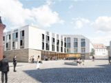 Leimen: Dienstleistungszentrum / Ärztehaus versus Festhalle / Hotel