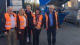 FDP Kreisräte besichtigen AVR-Umladestation und Wertstoffhof