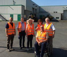 FDP-Kreistagsfraktion informierte sich in Witten über Bioabfall-Vergärungsanlage