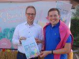 MdB Dr. Jens Brandenburg zu Besuch bei der Leimener Weinkerwe