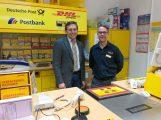 FDP-Vorsitzender informiert sich über den Umzug der Postfiliale Leimen