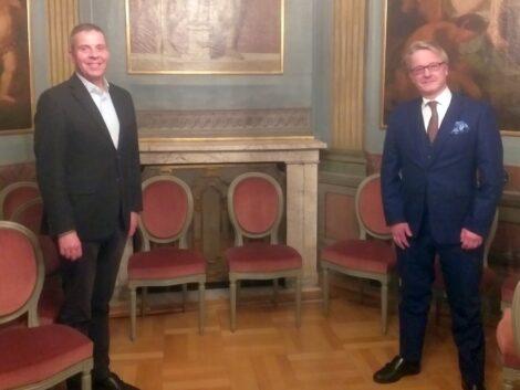 FDP-Landtagskandidat Prof. Krings bei Oberbürgermeister Hans Reinwald